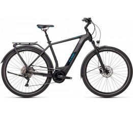 Cube Kathmandu Hybrid Pro 500 Black/blue 2021, Black/blue
