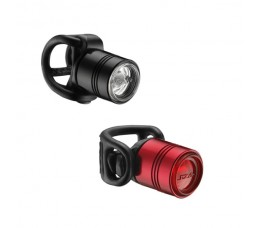 Lezyne Led Femto Drive Pair 15f/7r Lm Black/red