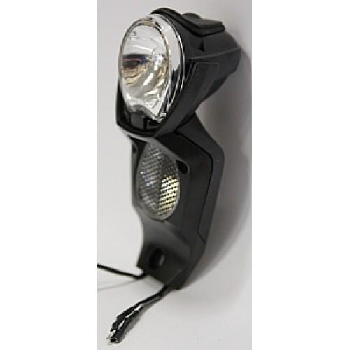 Spanninga Koplamp Light Vision V/2 Naafdynamo Export Black Smal