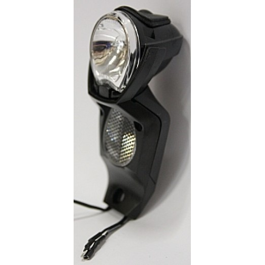 Spanninga Koplamp Light Vision V/2 Naafdynamo Export Black Smal
